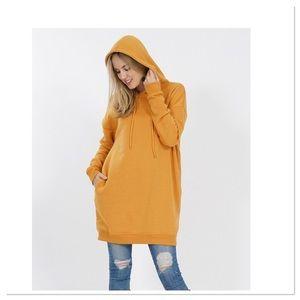 Mustard Oversized Hoodie